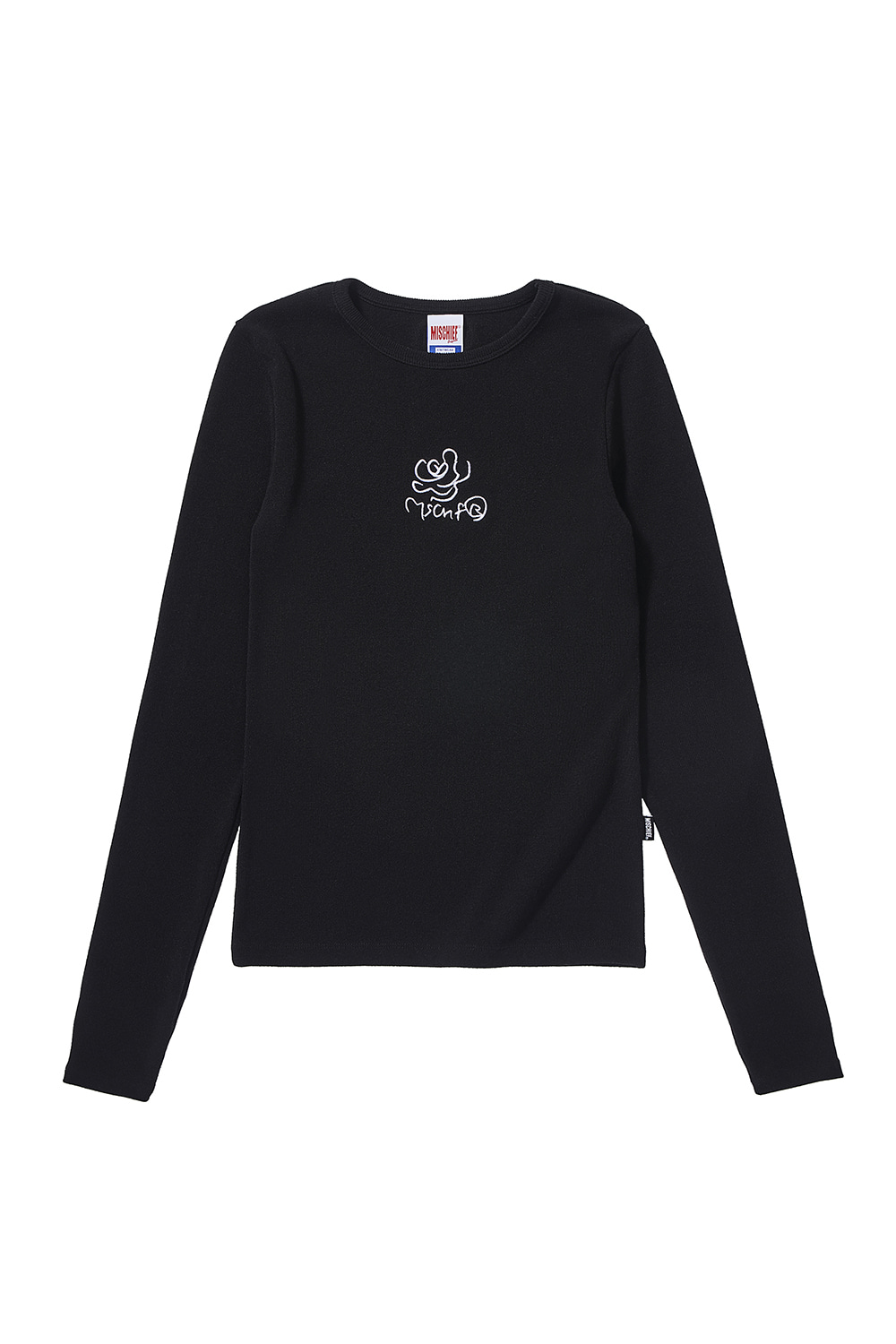 FITTED ROSE LONG SLEEVE_black