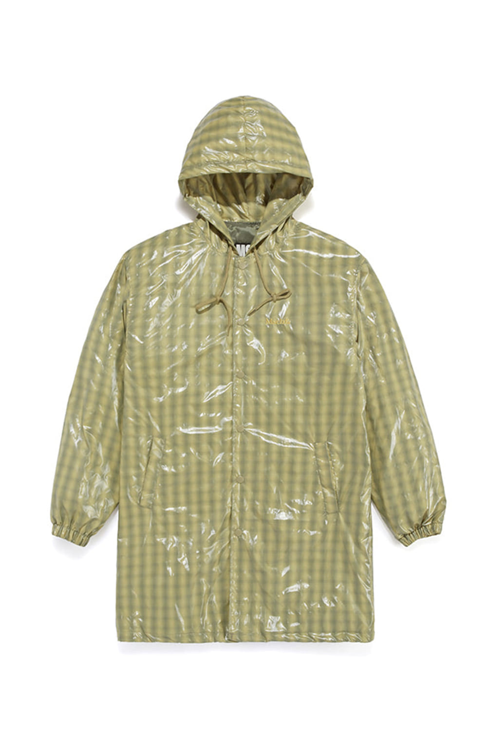 HOODED COACH JACKET_evergreen check