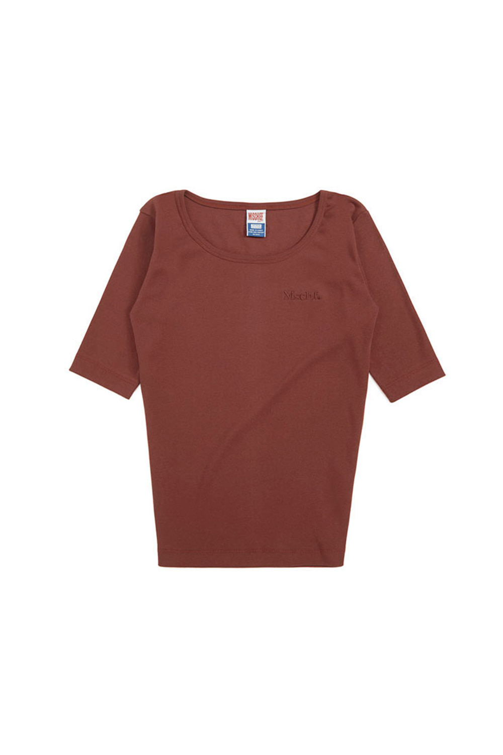 ROUND NECK SURFER TEE_plum