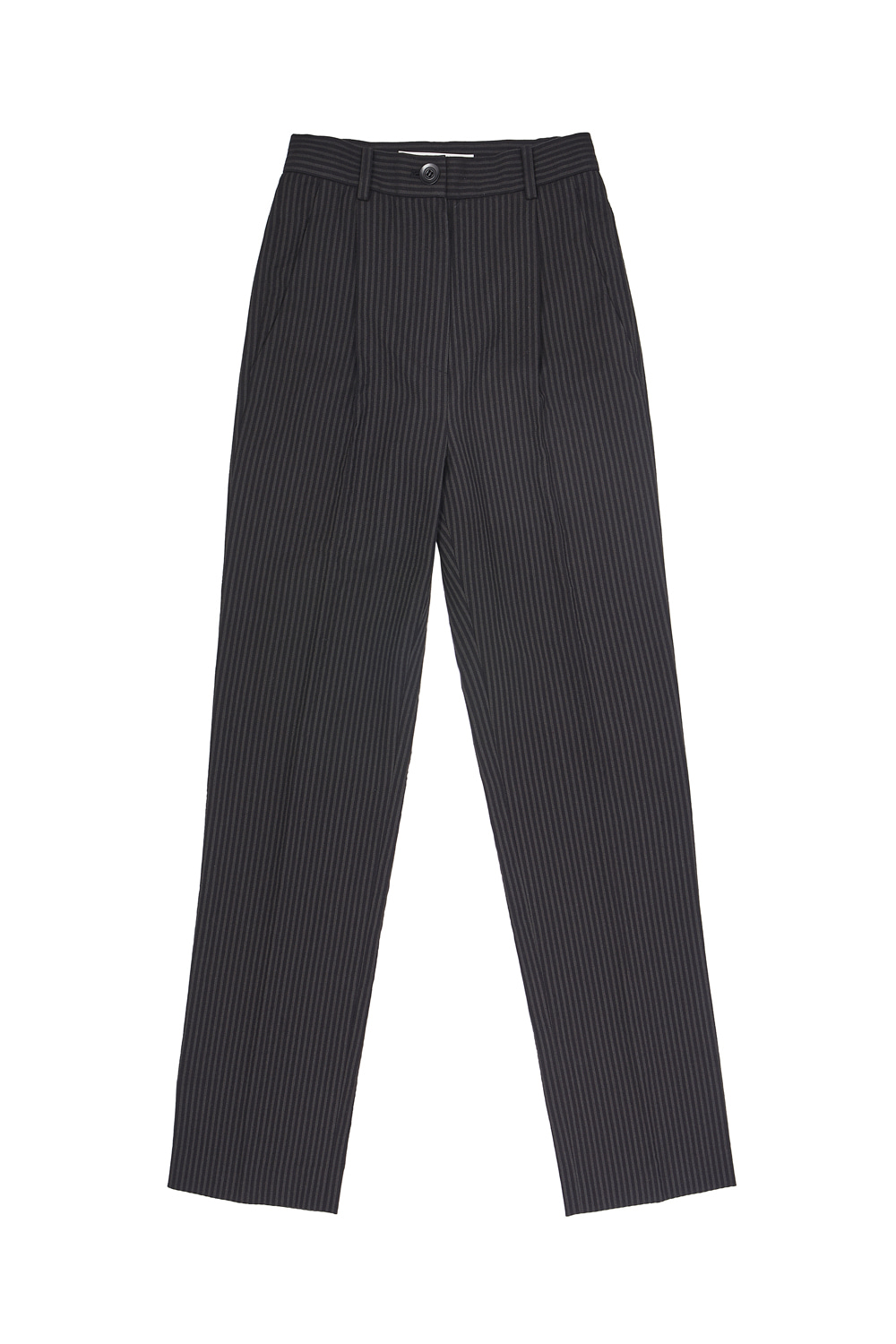 LONG SUIT PANTS_stripe black/gray