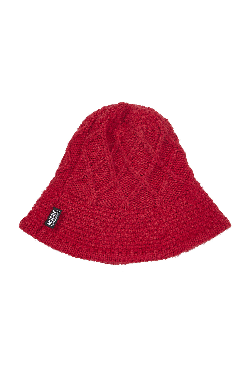 WEAVED KNIT BUCKET HAT_red