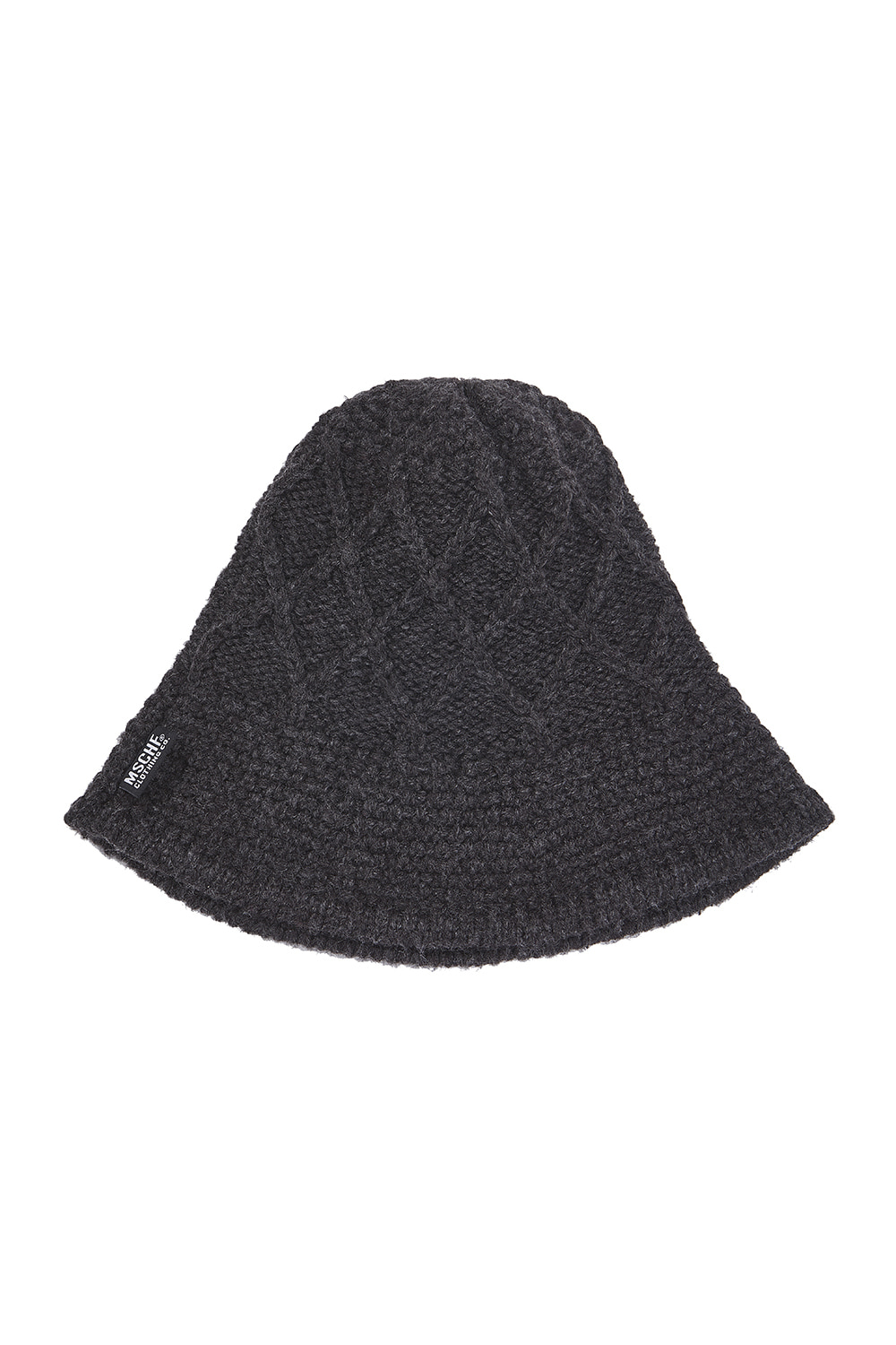WEAVED KNIT BUCKET HAT_gray