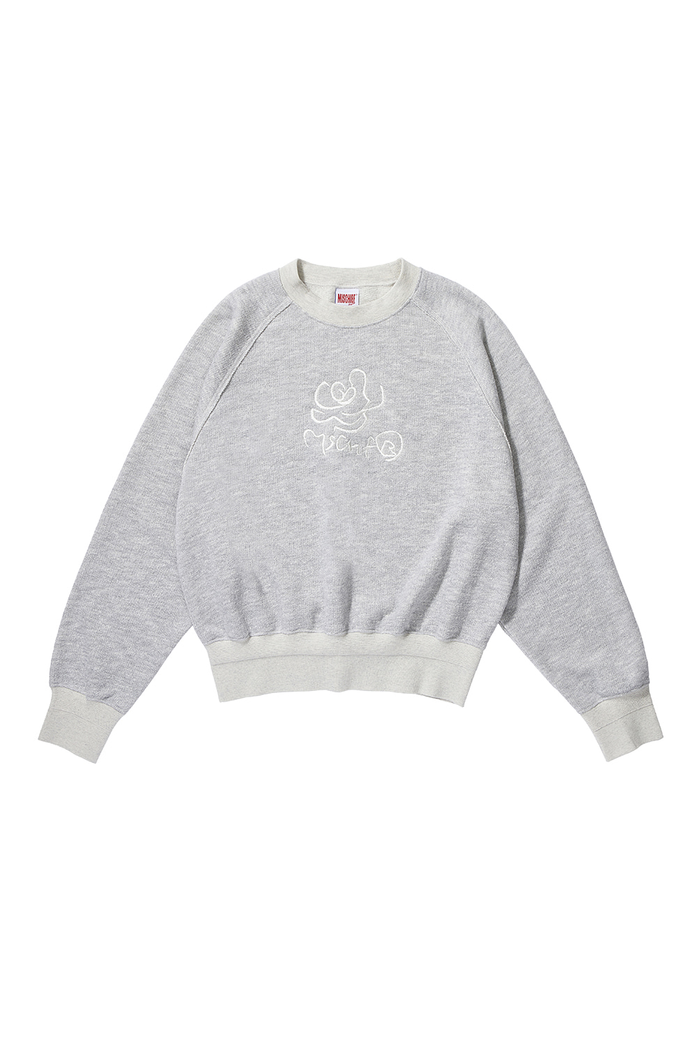 ROSE CREWNECK_melange gray