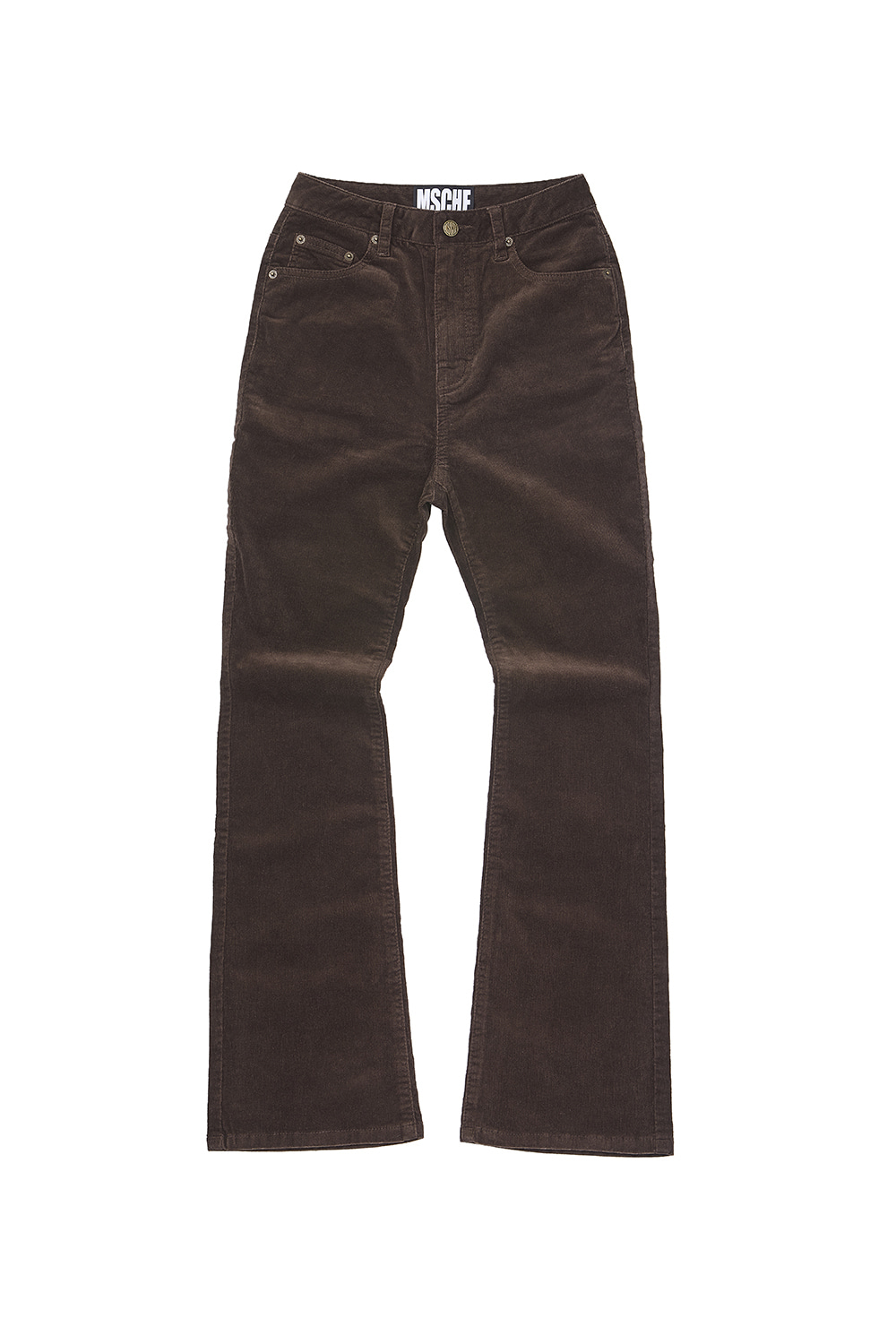 CORDUROY BOOT CUT PANTS_brown