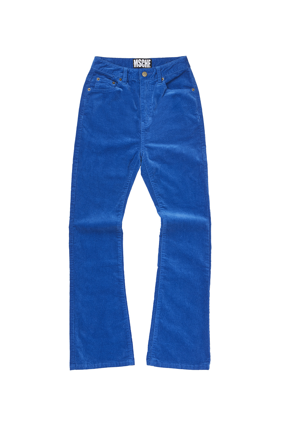 CORDUROY BOOT CUT PANTS_blue