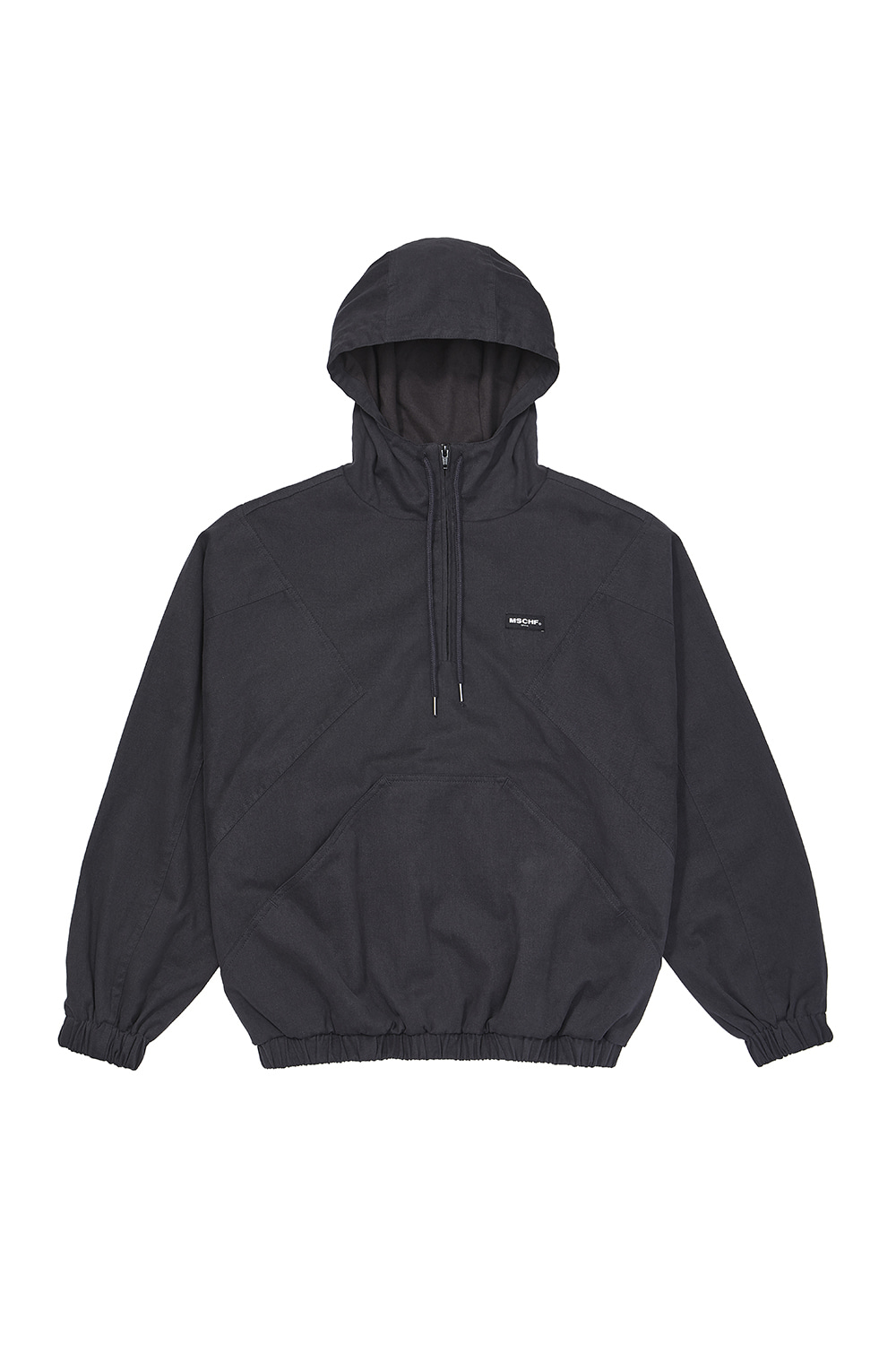HOODED ANORAK PULLOVER_charcoal