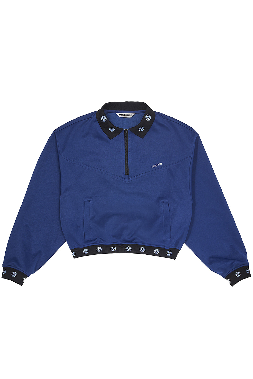 HALF ZIP TRACK TOP_navy