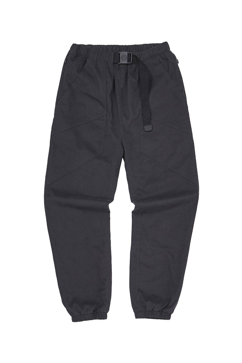 BELTED JOGGER_charcoal