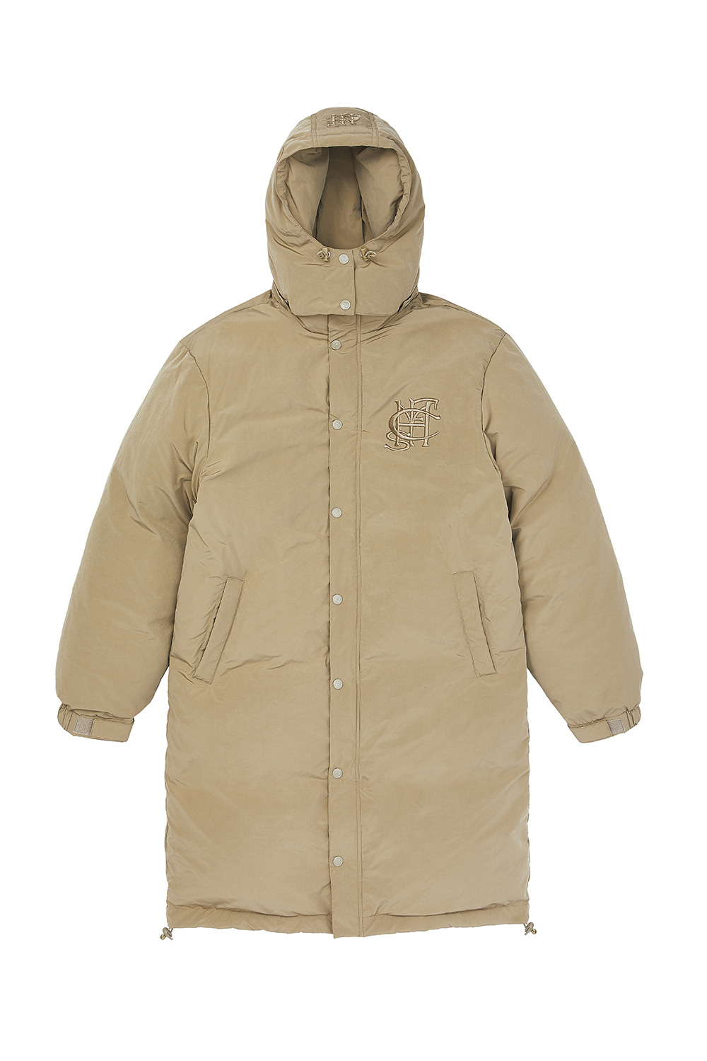 ZIP UP LONG DOWN PARKA_khaki beige