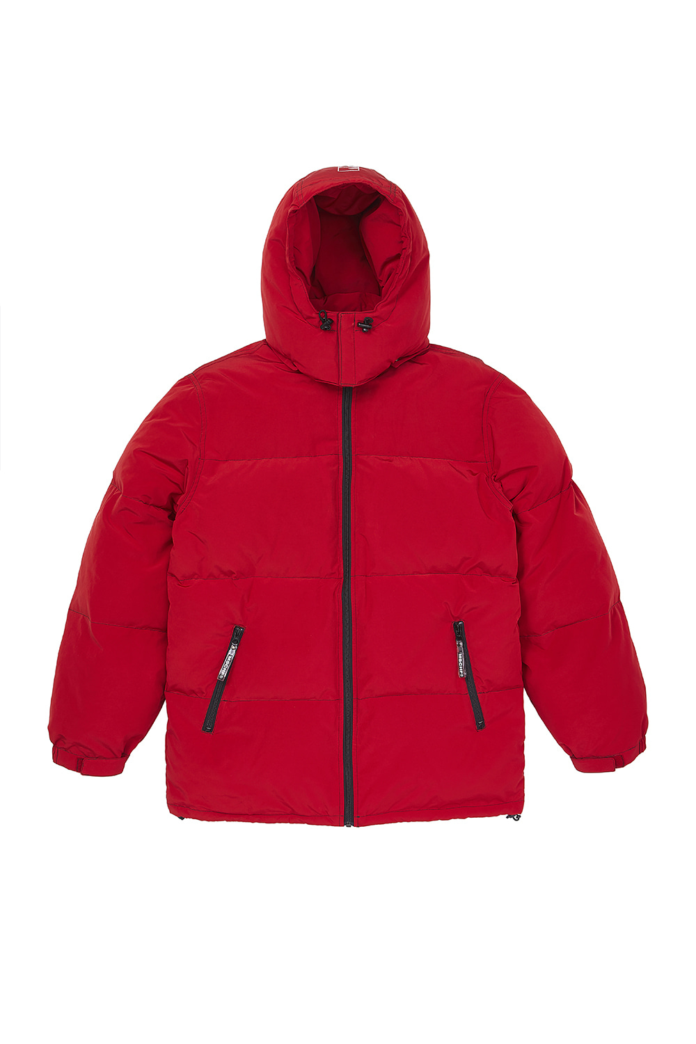 HOODED DOWN PARKA_red