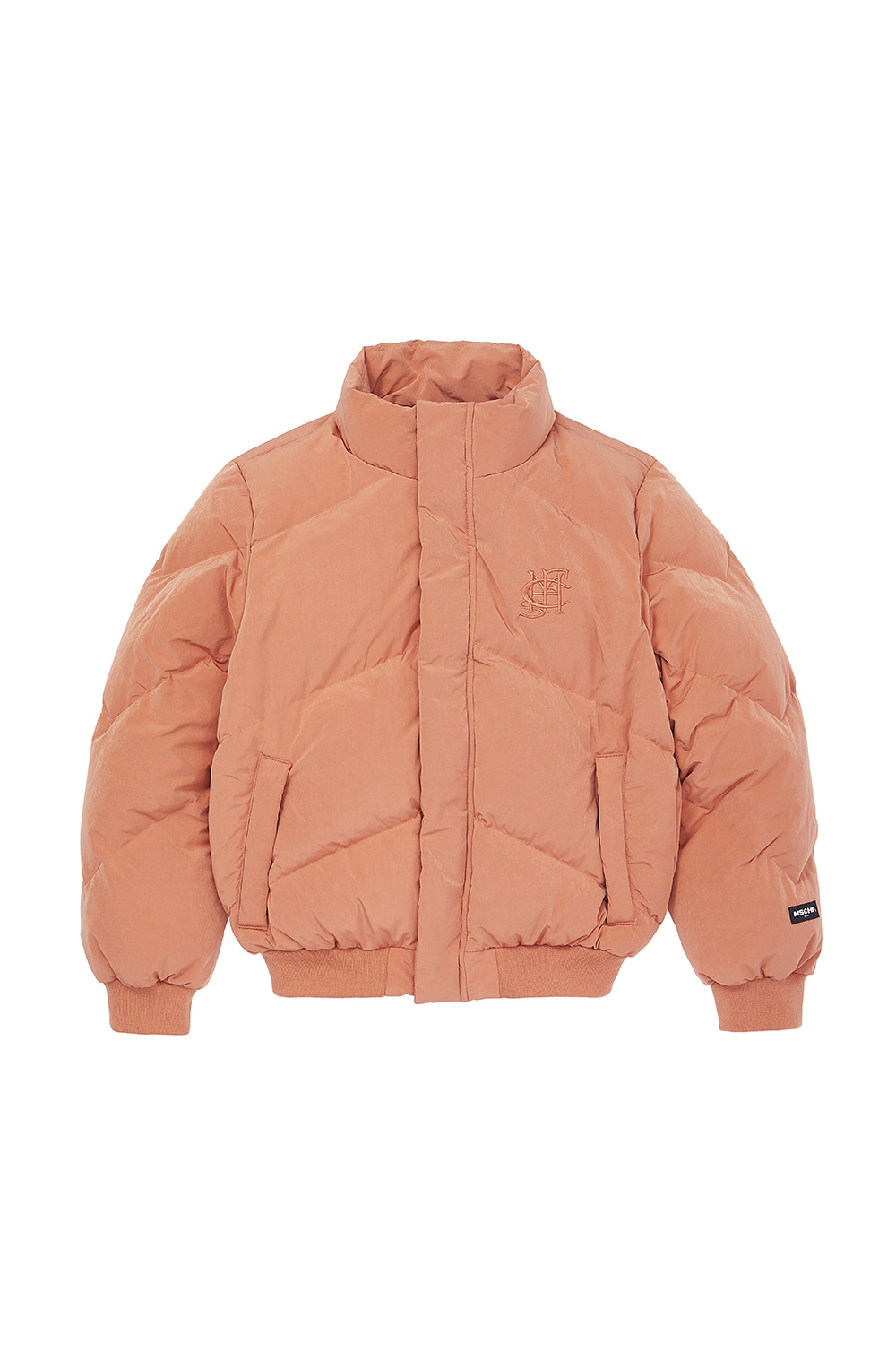 DOWN PUFFER JACKET_peach