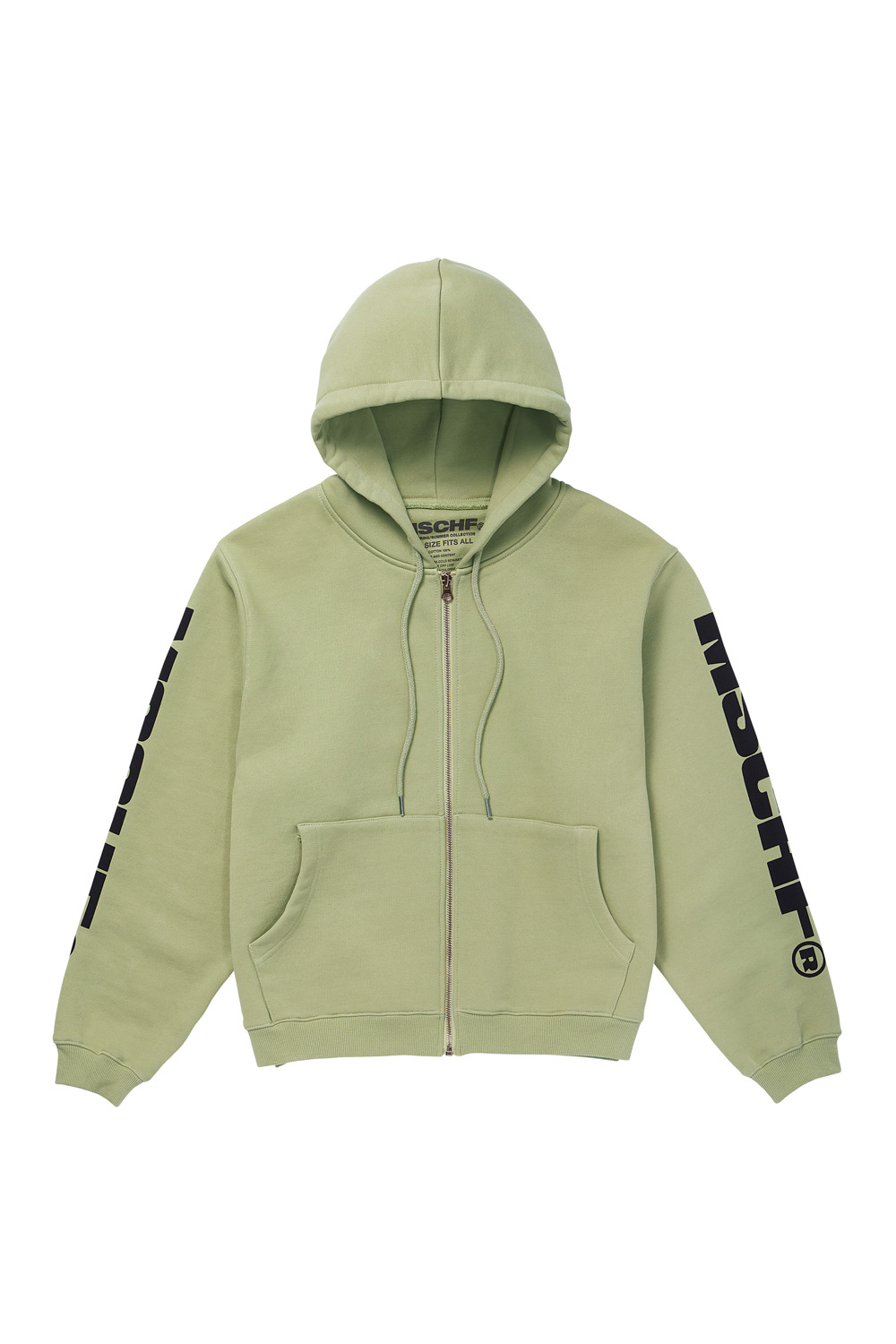 ZIP UP HOODIE_light green