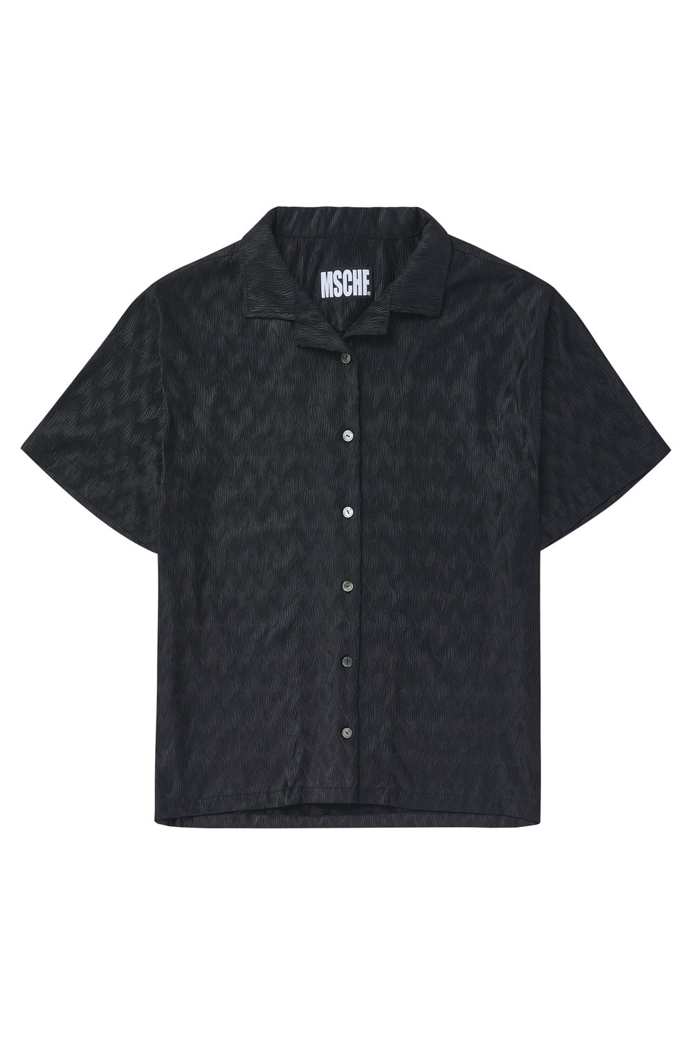 PLEATED BOWLING SHIRT_black