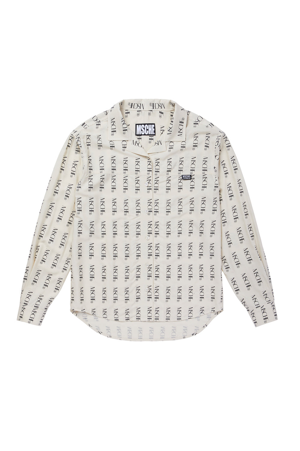 MSCHF REPEAT LOGO SHIRT_beige