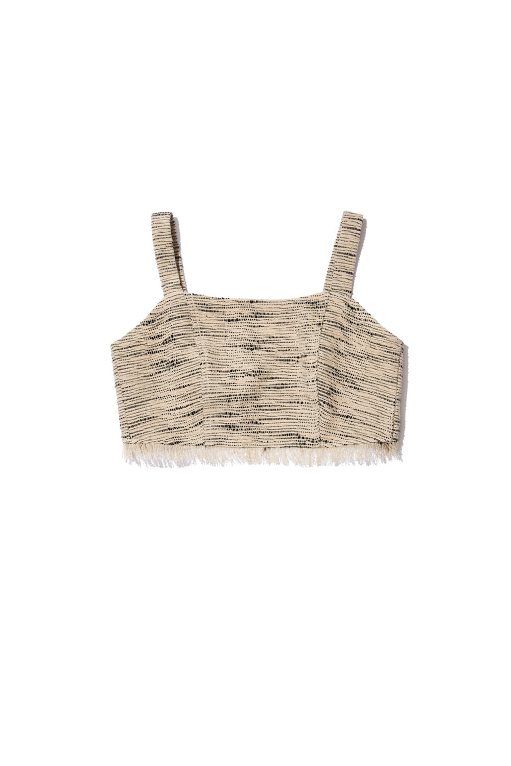 TOUR TWEED ENSEMBLE BUSTIER_light taupe/black